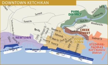 Ketchikan cruise ship docks