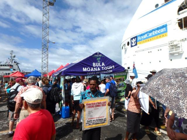 cruise ship dock in Suva