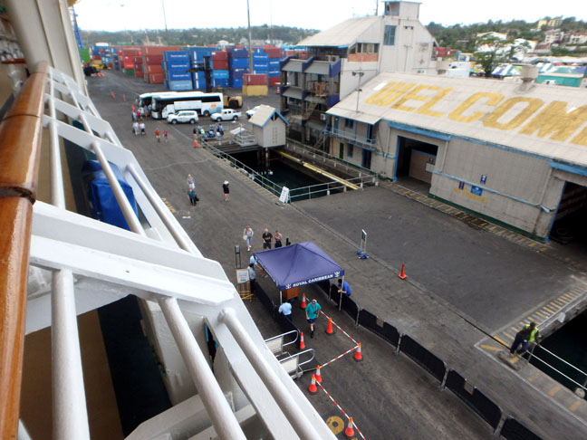 cruise dock in Suva