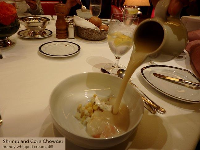 fancy cruise ship soup