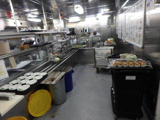 cruise ship galley