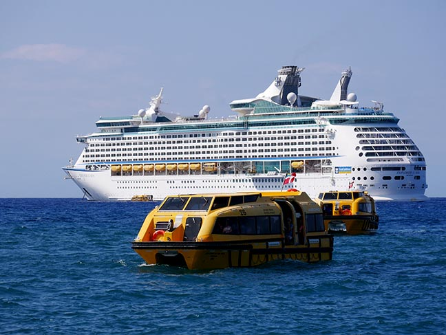 cruise ship and tenders