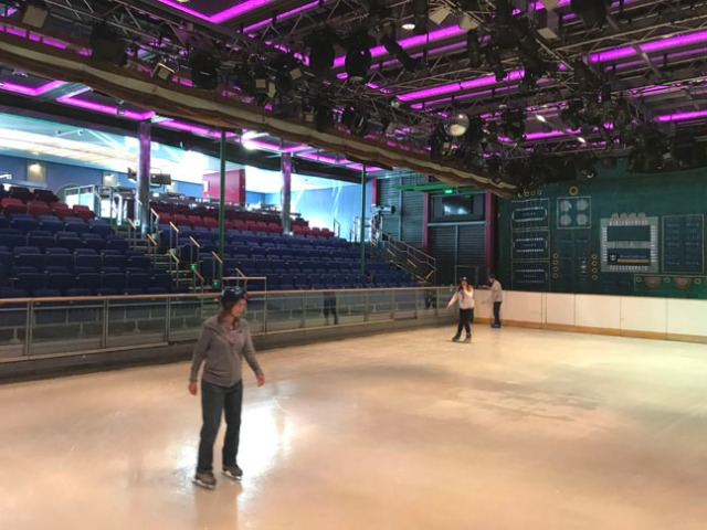 cruise ship ice skating