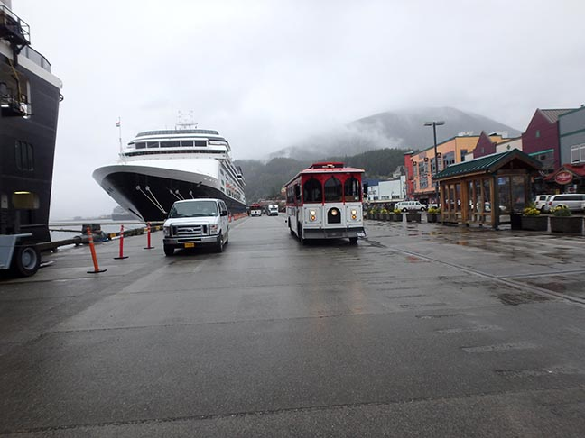 trolley in Ketchikan