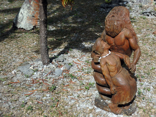 graveside woodcarving