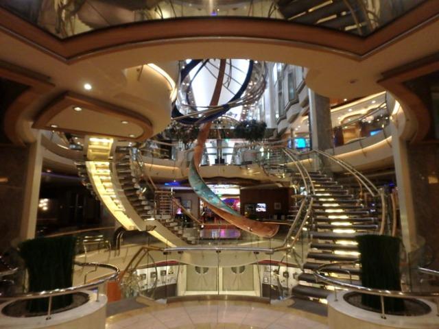cruise ship atrium