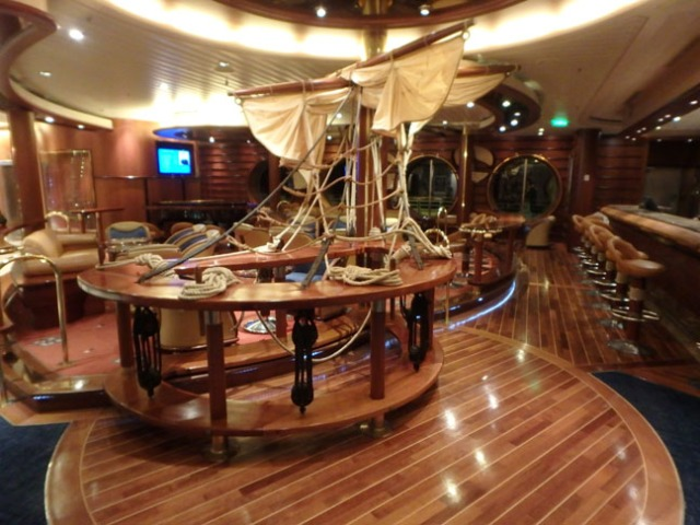 ship bar on a ship