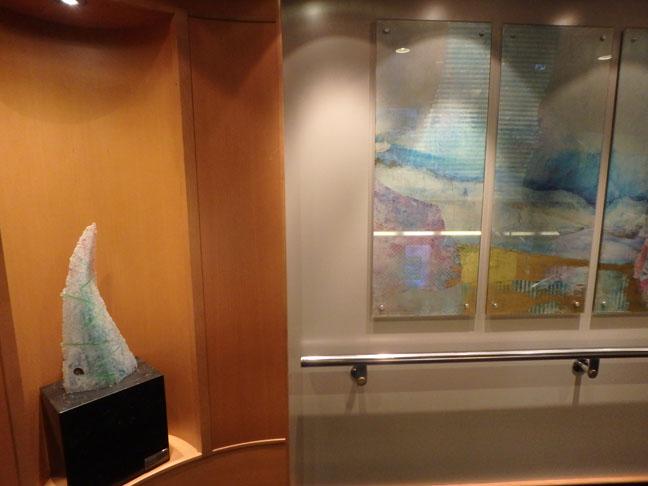 cruise ship stairway art