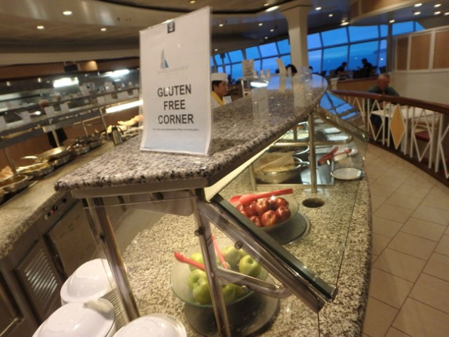 buffet station on cruise ship