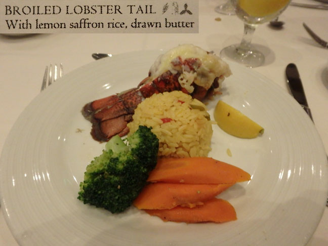 cruise ship lobster