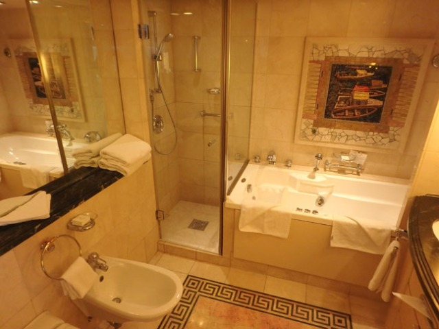 cruise ship suite bathroom