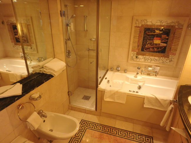 cruise ship suite bathroom
