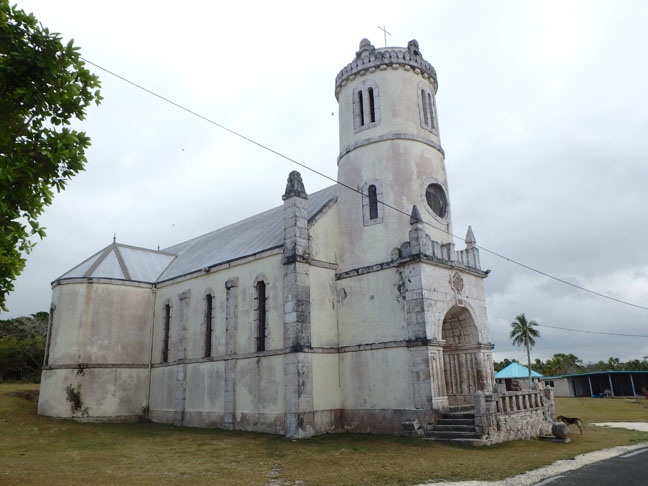 church by the cave on Lifou