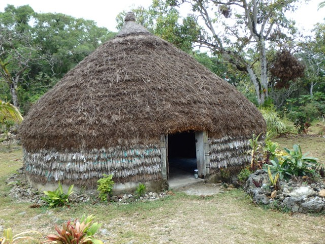 native hut on Lifou