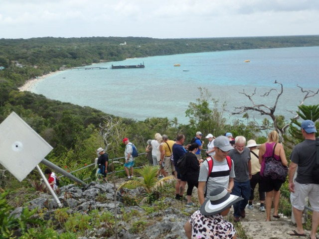 trail to the hilltop church on Lifou
