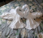how to fold a towel swan heart