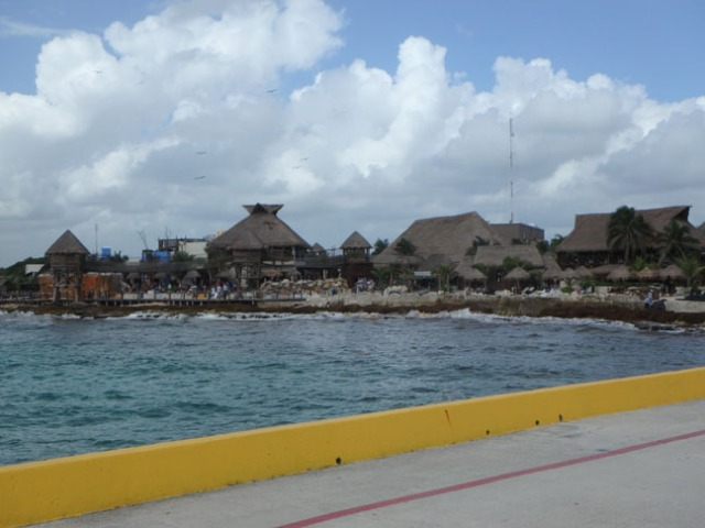 cruise ship dock at Costa Maya