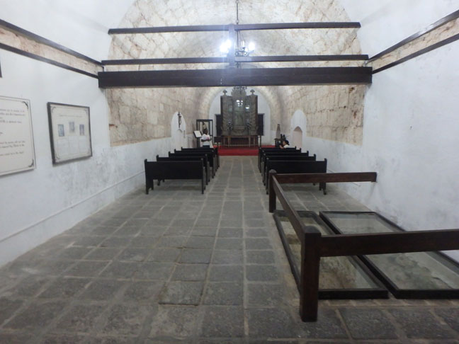 chapel in Cuban fort