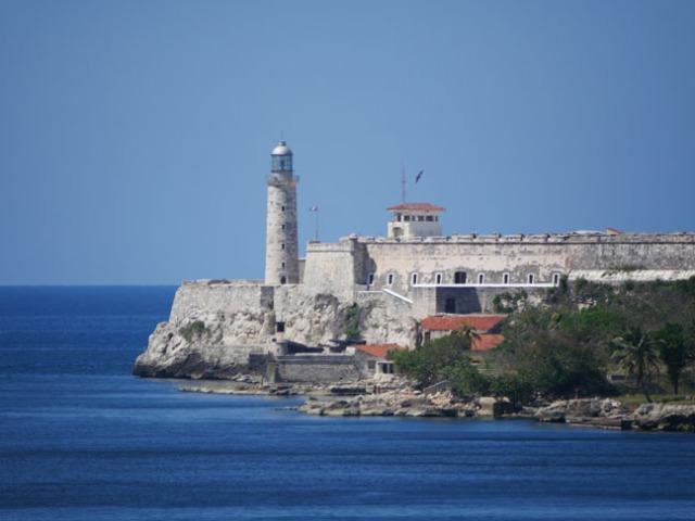 fort at the harbor in Havana