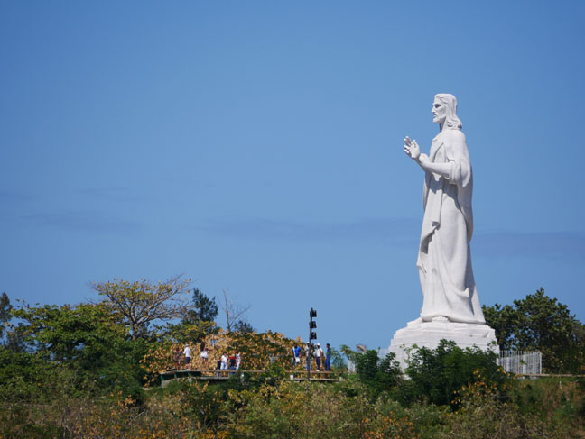 statue of Christ in Cuba