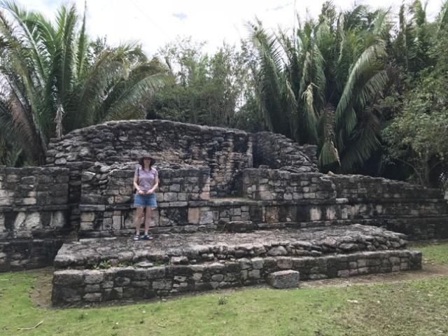 small Mayan ruin