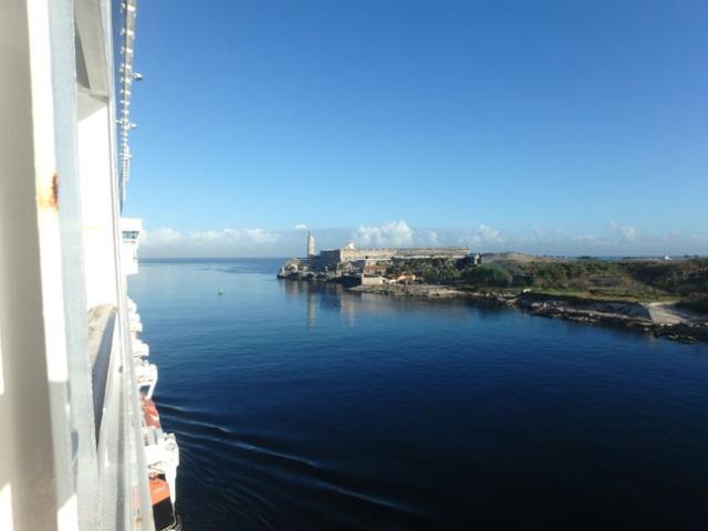 cruise ship balcony view