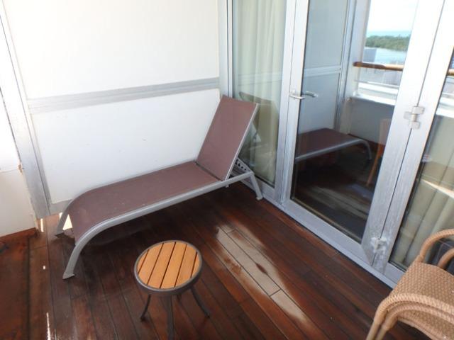 big balcony on a cruise ship