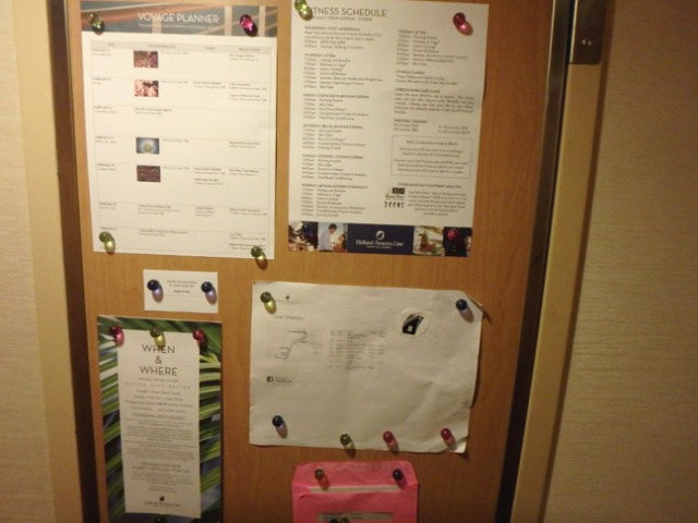 keep cruise documents handy with magnets