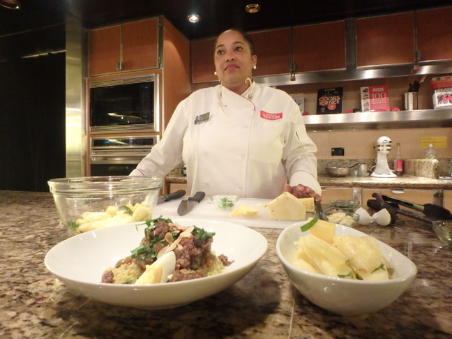 cruise ship cooking demonstration