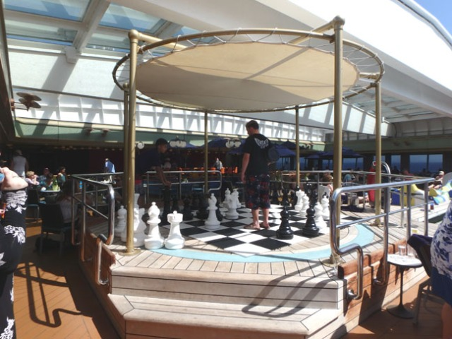 giant chess on a cruise ship