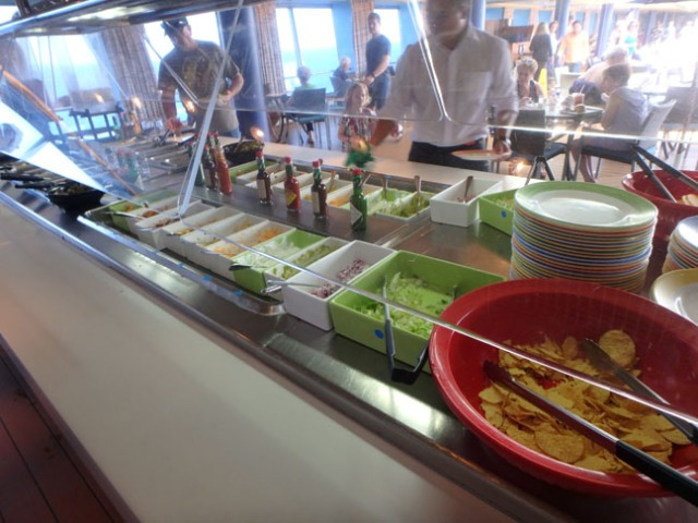 cruise ship taco bar