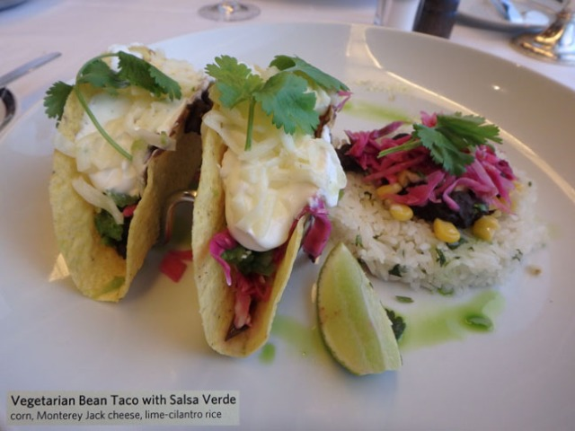 fancy cruise ship tacos