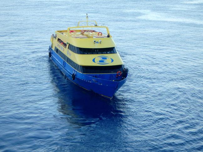 ferry in Cozumel