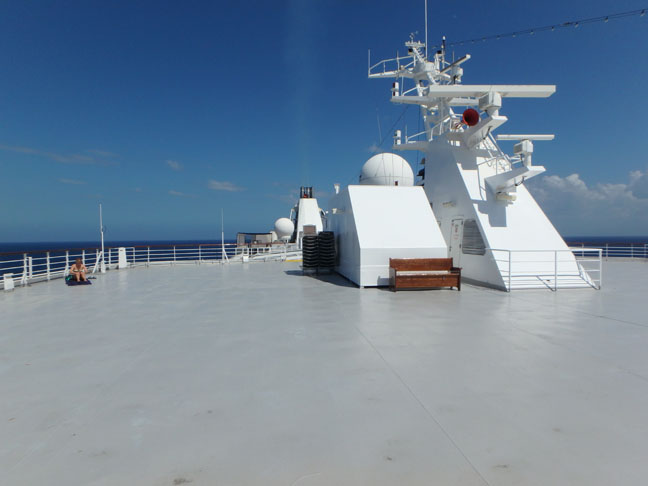 open space on deck