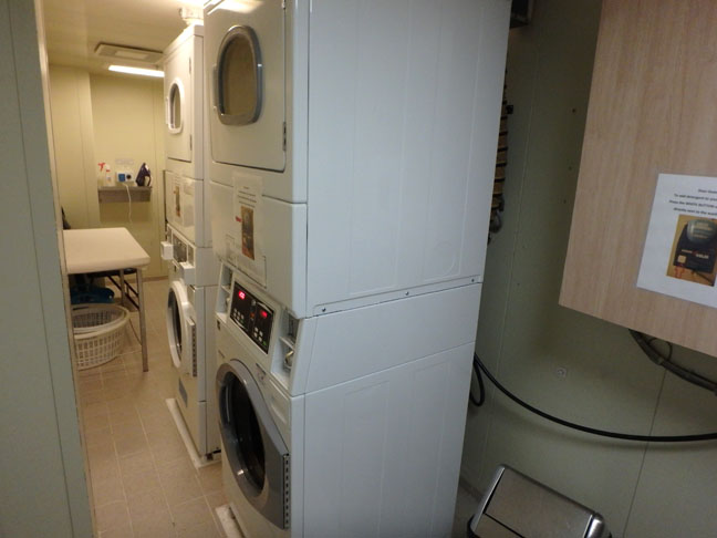 cruise ship launderette