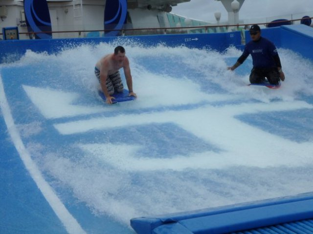 flowrider on a cruise ship