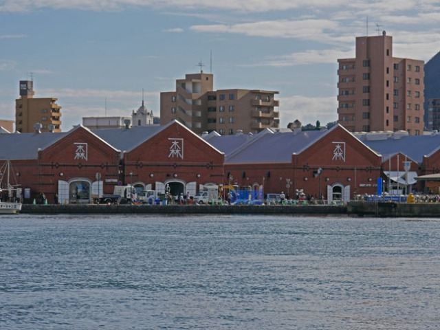 red brick warehouse in Hakodate