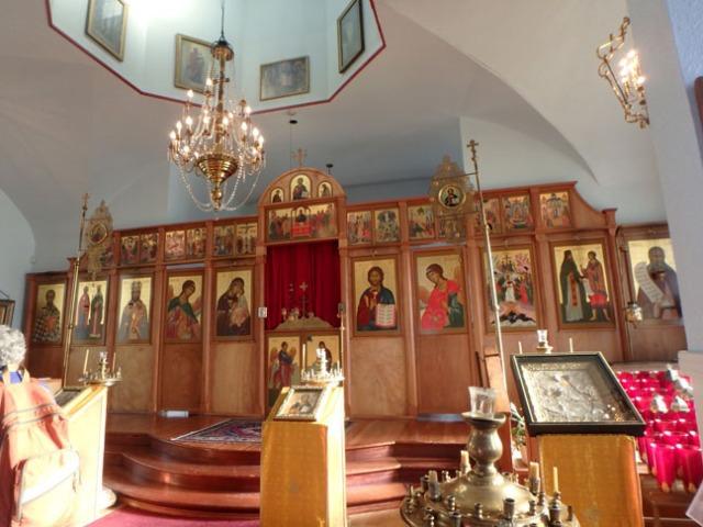 inside Kodiak's Russian church