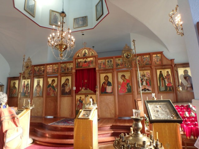 inside Kodiak's Russian church