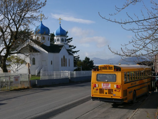 Russian orthodox church in Kodiak, Alaska