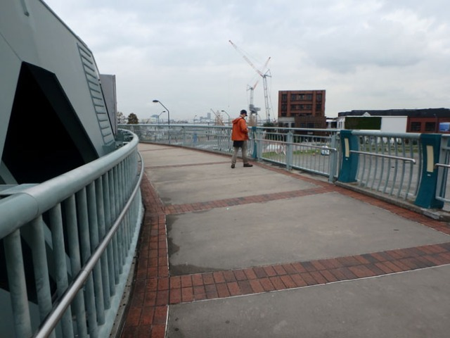 pedestrian bridge in Yokohama