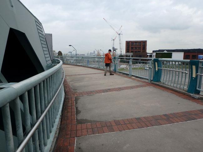 pedestrian bridge in Yokohama