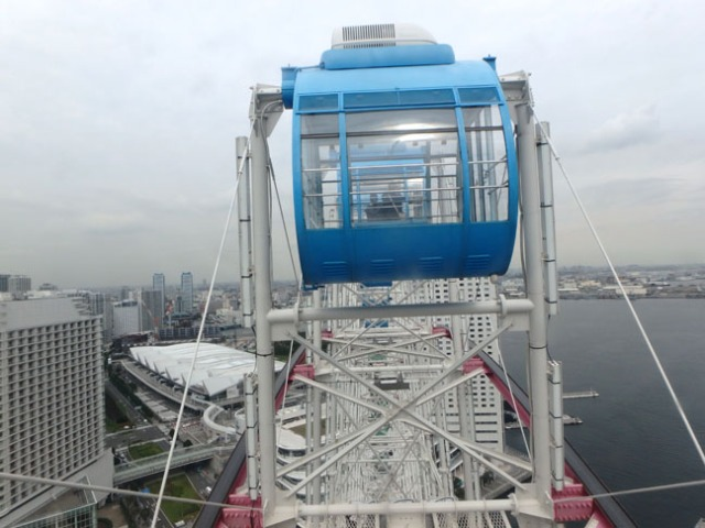 giant ferris wheel in Yokohama