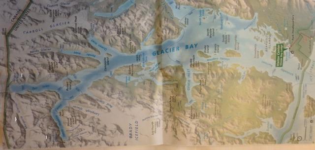 Glacier Bay map
