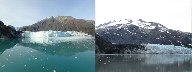 Margerie Glacier 2018 and 2013