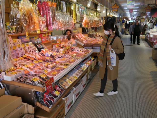 Hakodate, Japan morning market