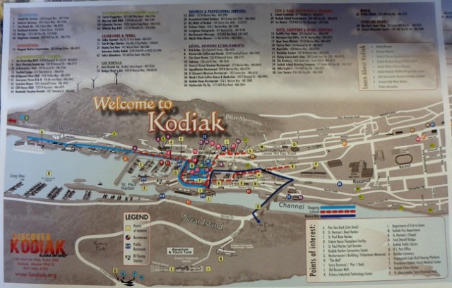 Kodiak map