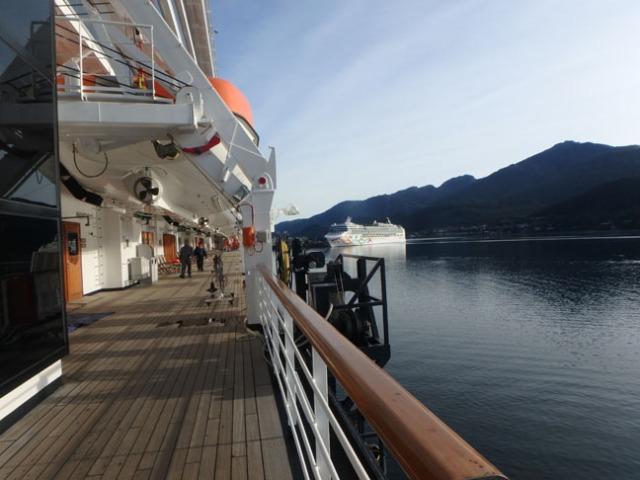 promenade deck on the Westerdam