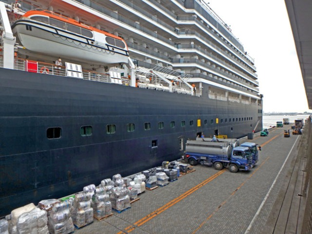 loading the Westerdam for the next voyage