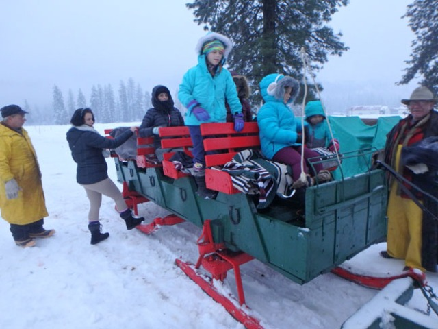 sleigh ride in Leavenworth